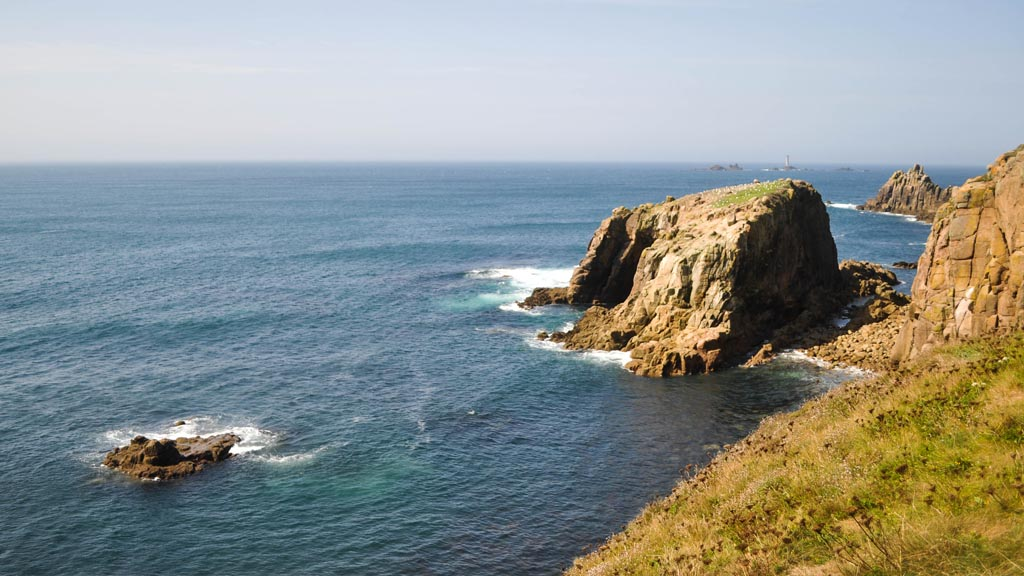 The incredible views of the Celtic Sea from the Land's End coastal path.