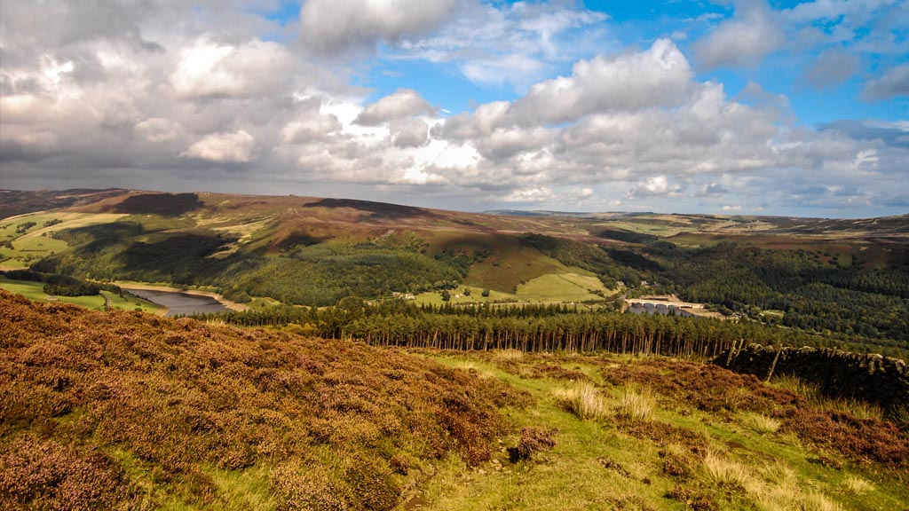 Overlooking Hope Valley and beyond at the Peak District