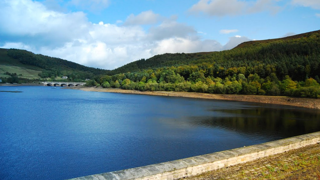 The Ladybower Reservoir in the Peak District