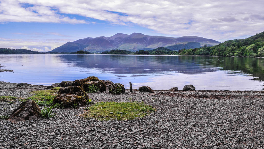 One of the Lake District most popular destinations, Derwent Water, with the town of Keswick nearby.