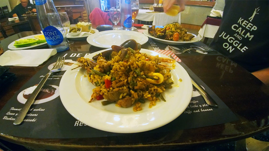 Paella, a staple of Spanish cuisine, came to the rescue of our growling bellies... and our sanity.
