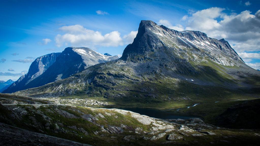 The 'Sandcrawler' mountain parked beneath a deep blue sky.
