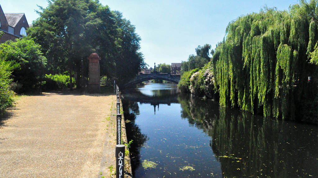 The River Wensum, circling the heart of the city centre.