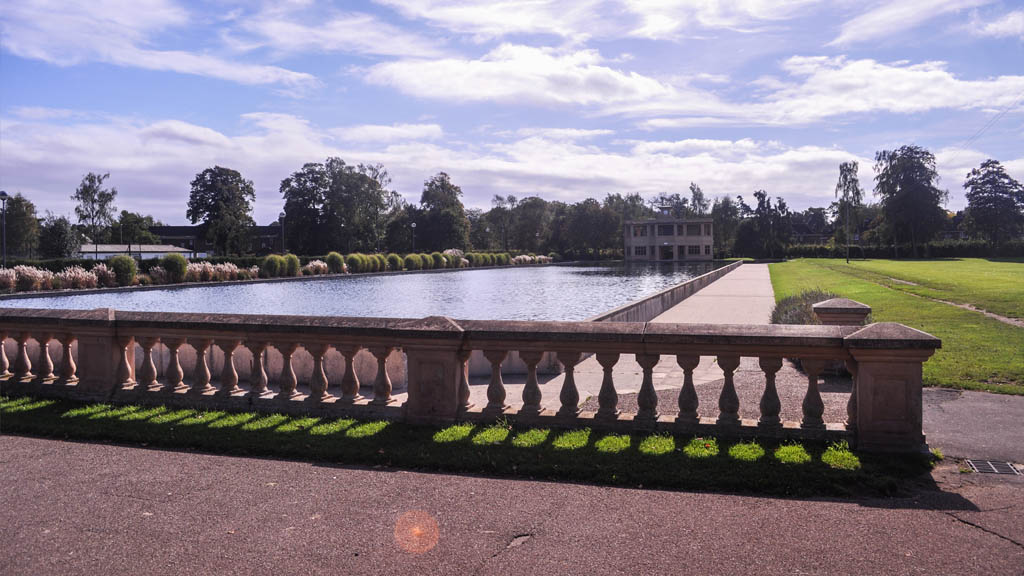 A view of one of the ponds at Eaton Park.