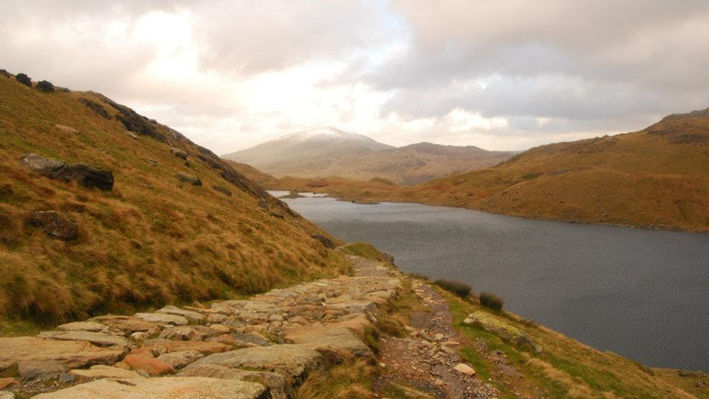 The point along the Miner's Track where we abandoned hope of reaching Mount Snowdon.