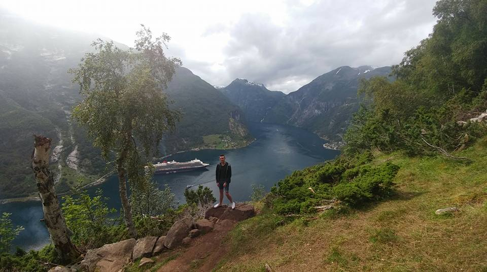 Simon at Geiranger, Norway