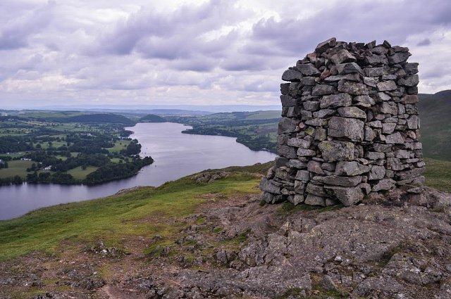 The vast viewpoint standing alongside Hallin Fell's trig point.