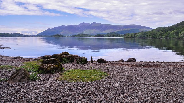 By the lake at Derwent Water.
