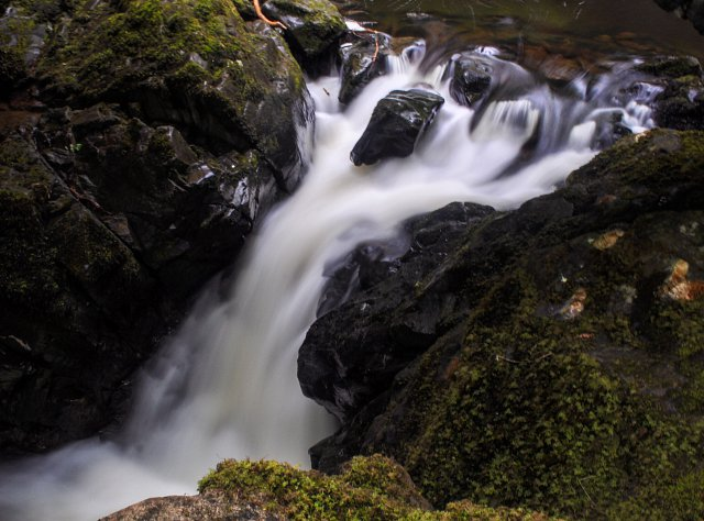 A long-exposure silky shot of the bottom end of Aira Force