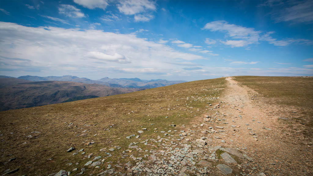 Looking back on the path, the final stretch to Helvellyn was almost as flat as a Shrove Tuesday pancake.