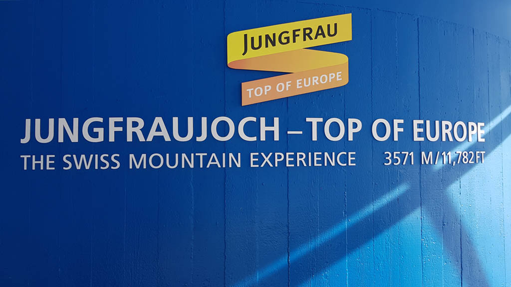 Inside the visitor's centre at Jungfraujoch - Top of Europe