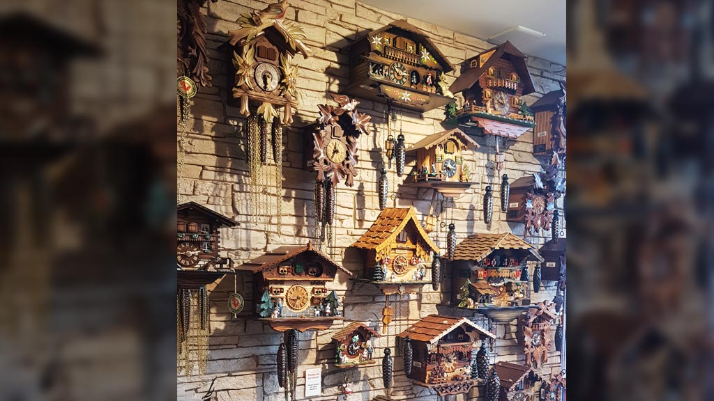 The seemingly obligatory cuckoo clocks in large numbers in Interlaken stores