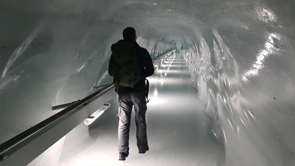 Exploring the tunnels of the Ice Palace